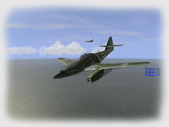 Me-262 in flight