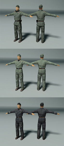 Soldiers from Theatre of War 2. Human modeling in the Storm of War series will be more complex and detailed.