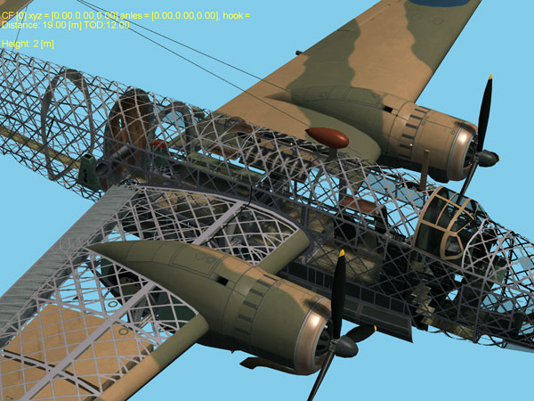 Vickers Wellington plane detail in Storm of War: Battle of Britain