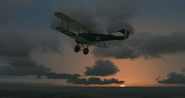 Wings Over Flanders Fields - A tranquil moment of flight