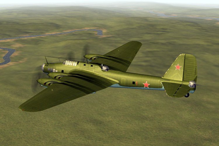 Tupolev TB-7 M40 heavy bomber