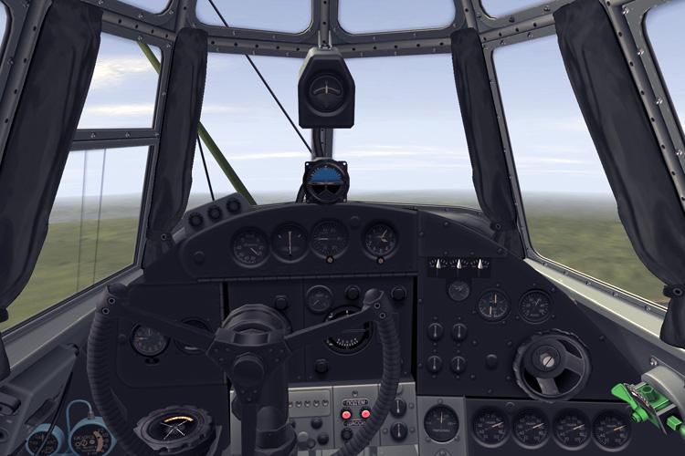 Tupolev TB-7 M40 cockpit