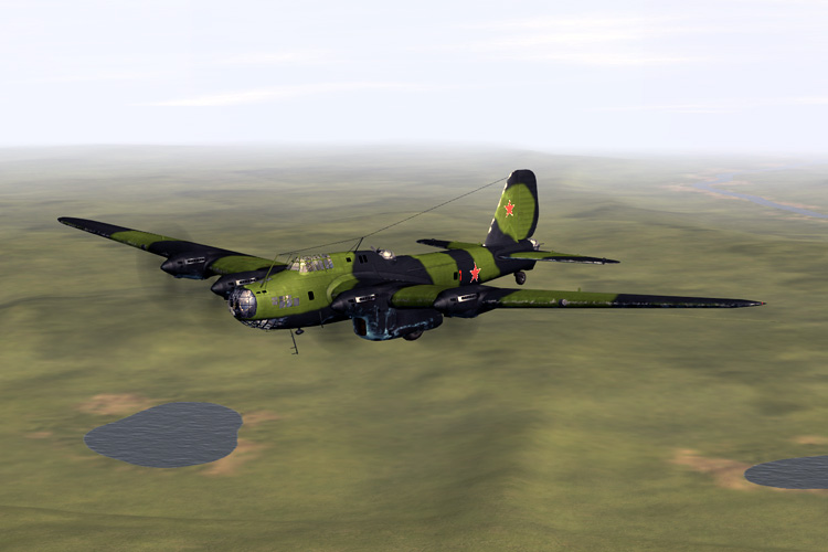 The Petlyakov PE-8 heavy bomber