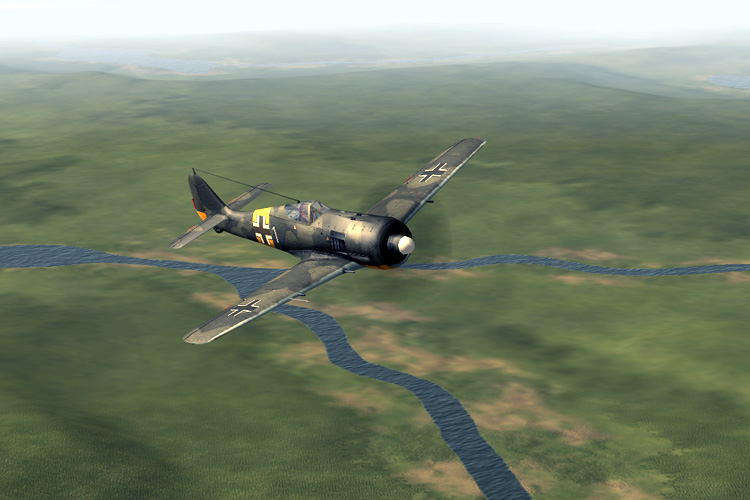 The Focke Wulf Fw 190 A-4 fighter