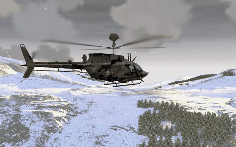 The reworked and now flyable OH-58D in EECH v1.15