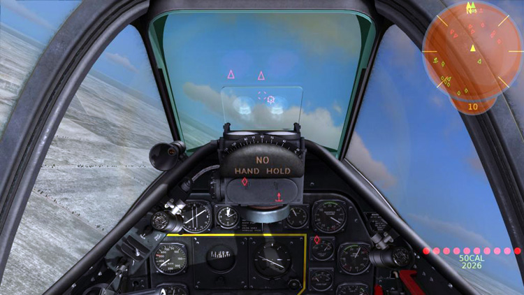 "The DCS: P-51D Mustang ""game mode"" cockpit"