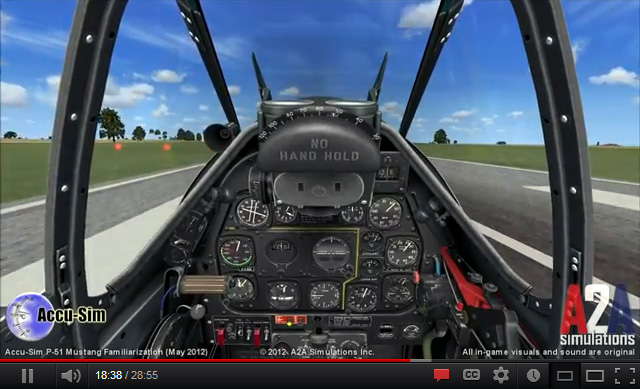Video: Accu-Sim P-51 Mustang familiarization