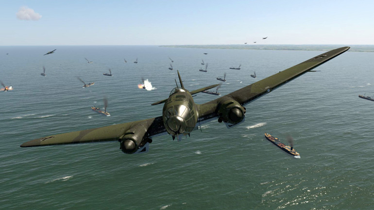Daytime bombing with KG53 in the He111 – a much more satisfying experience!