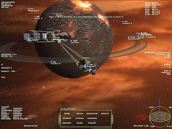 The Mahan, a nearby Asher class destroyer, took the station under fire with her X-ray lasers...