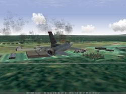 Falcon12 bombs on fuel tank.