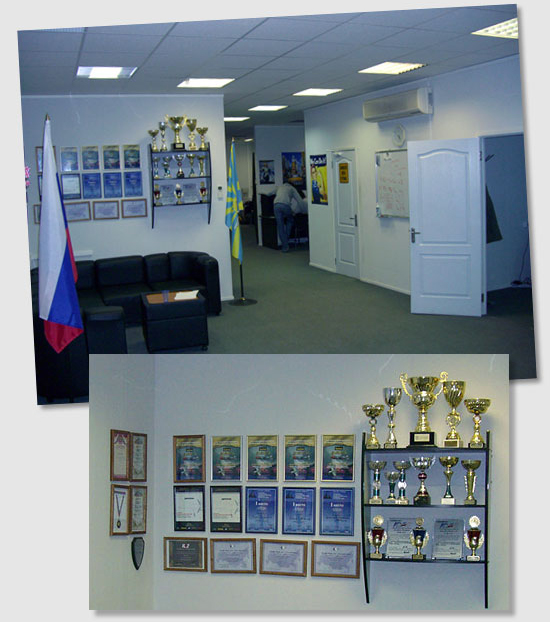"The GT office entrance and the ""Honor Corner"""