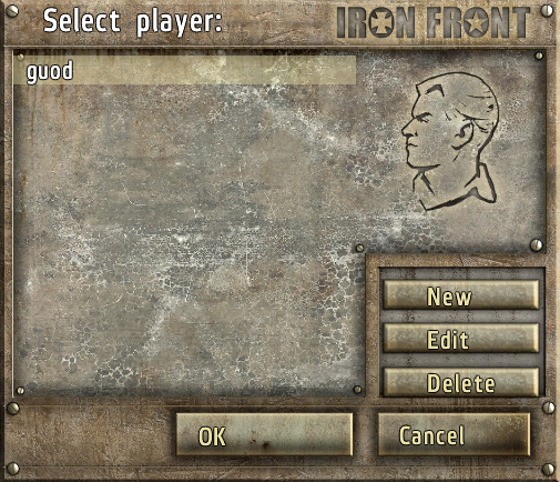 Iron Front - Player Profile Settings