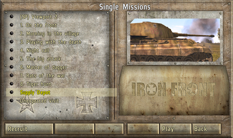 Iron Force - Single Player Missions on the German Side
