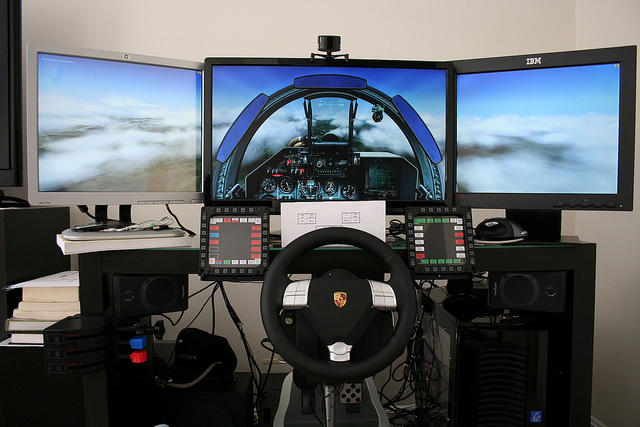 Multiple monitors or One Big Screen? - SimHQ Forums