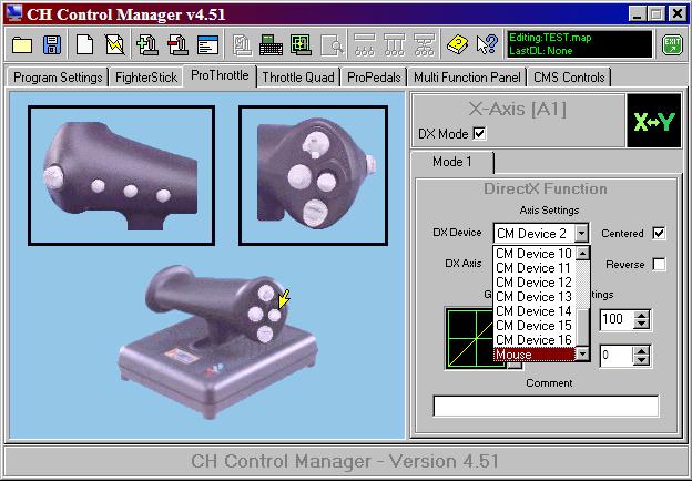 CH Pro Throttle Mini-Joystick Programming - SimHQ Forums