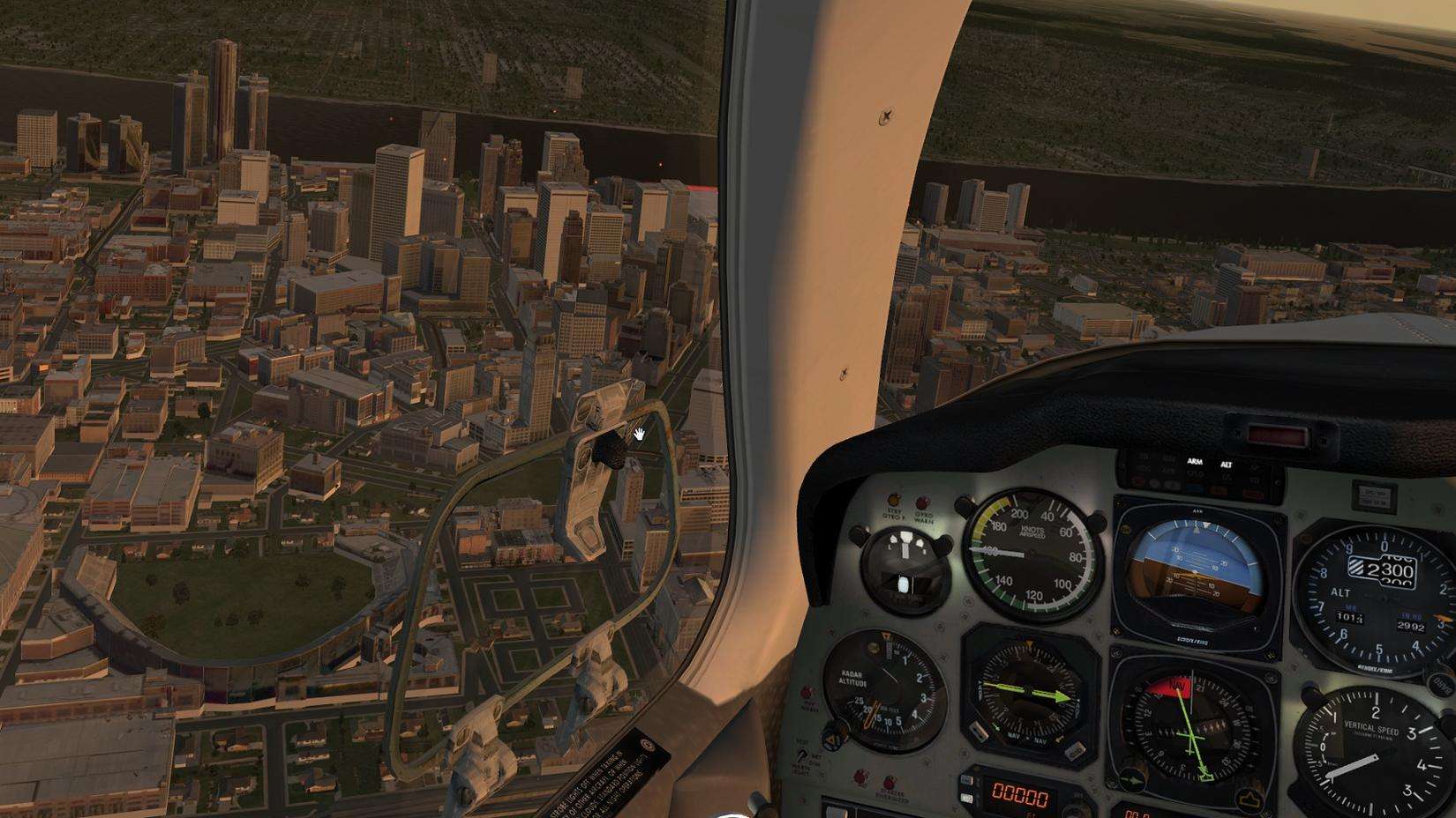 how to look around in xplane 10