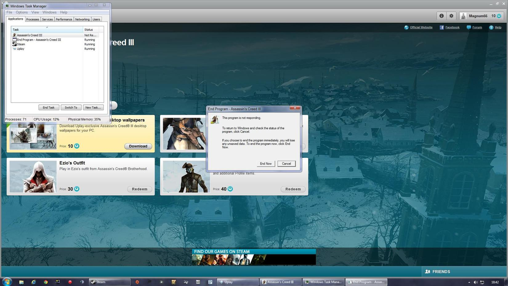 Assassin's Creed 3 (PC 1st mission SPOILER) - SimHQ Forums