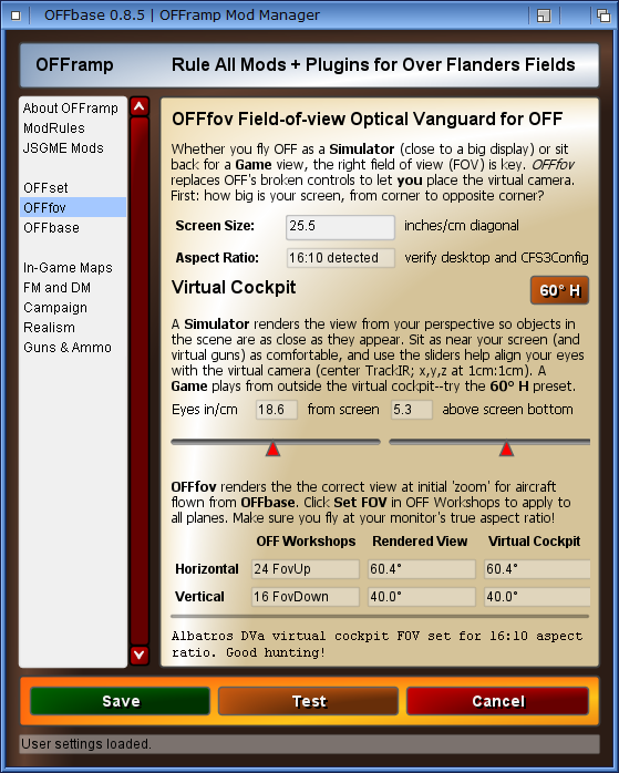 Field of View (FOV) Calculator for OFF - SimHQ Forums