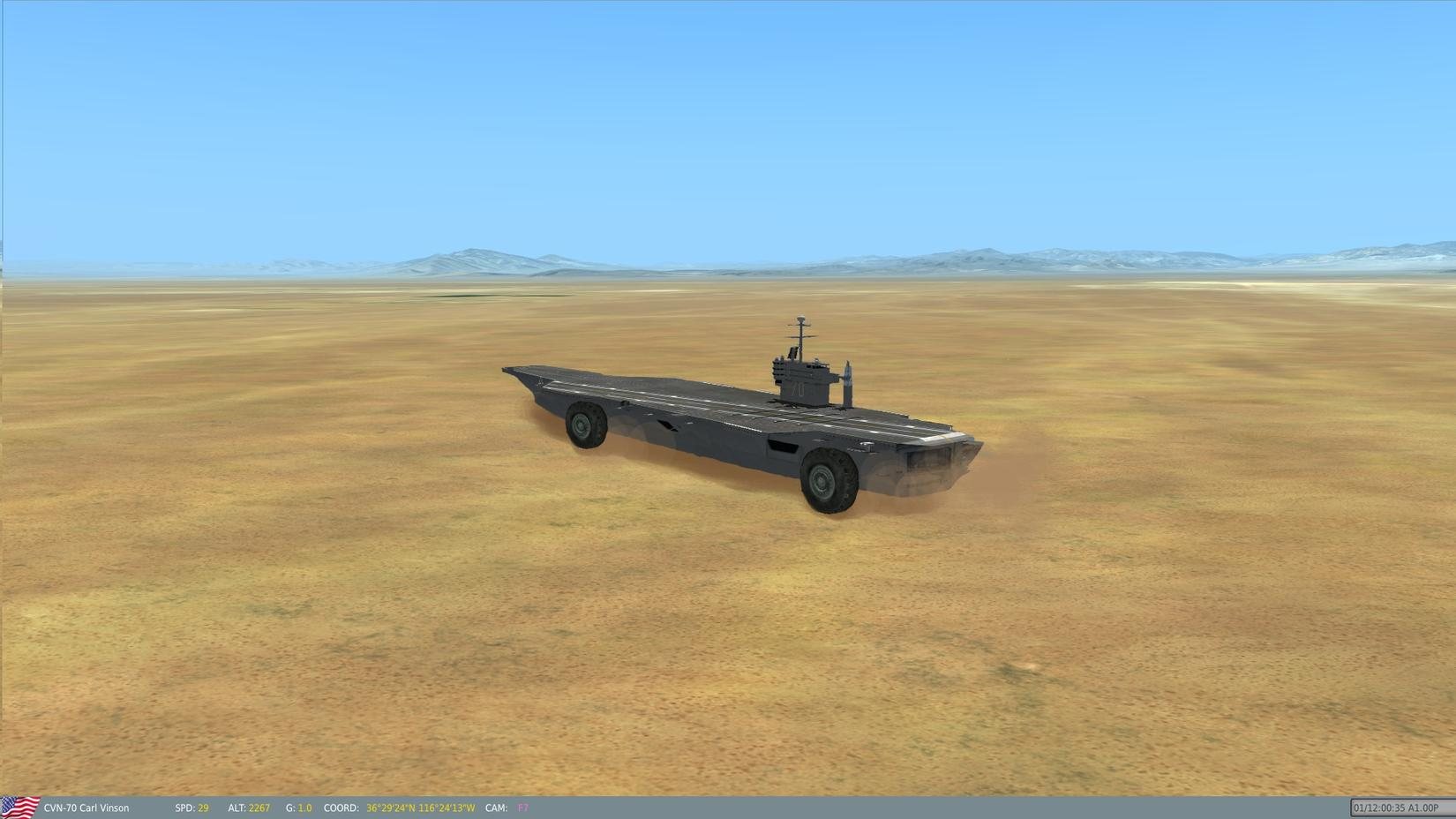 Why nevada simhq forums i was thinking maybe a third party modder could just throw some gigantic wheels on the bottom of the carl vinson and have it drive around the desert at gumiabroncs Image collections