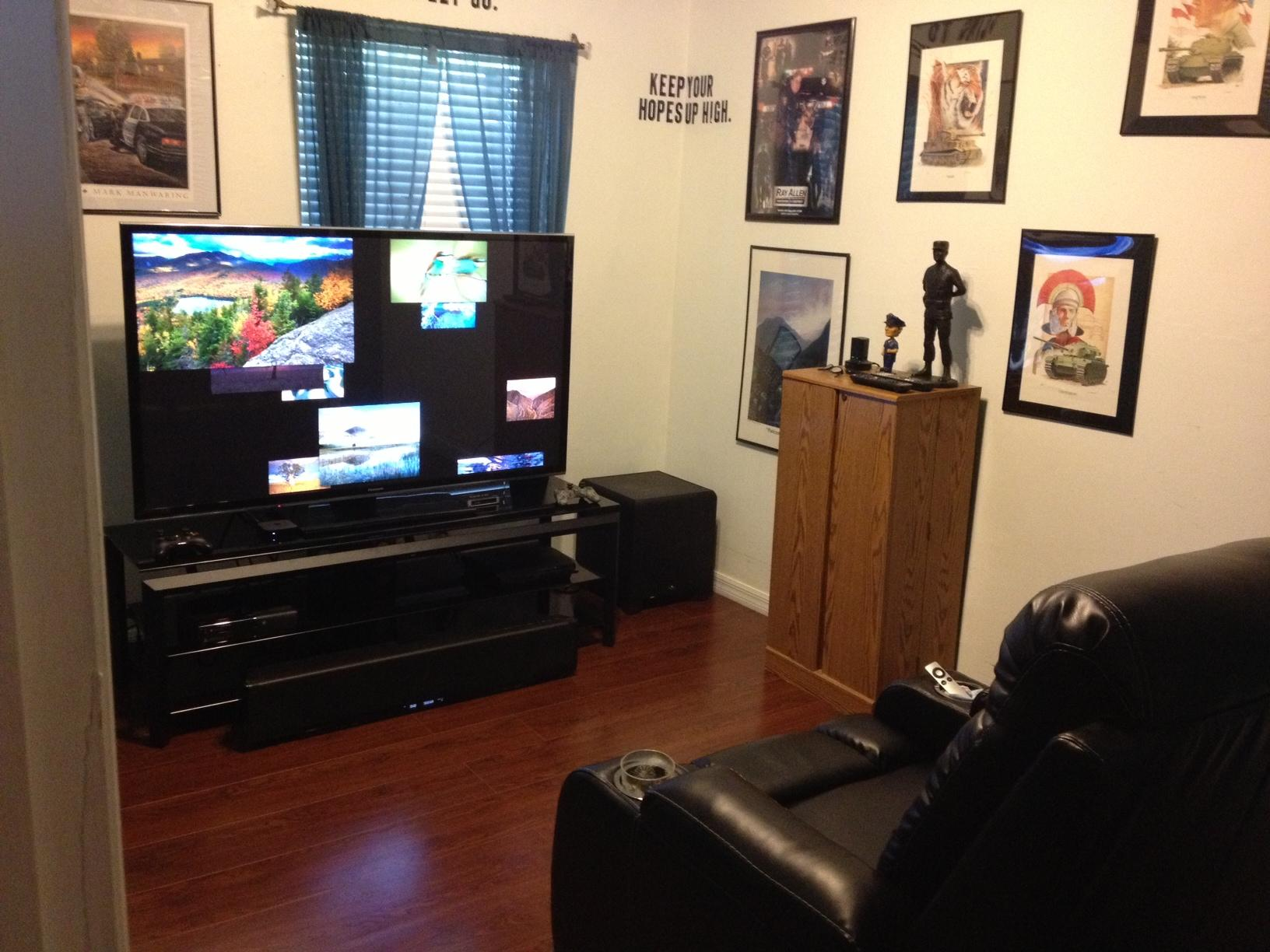 Man cave build pics in progress simhq forums - Man cave ideas for small spaces collection ...
