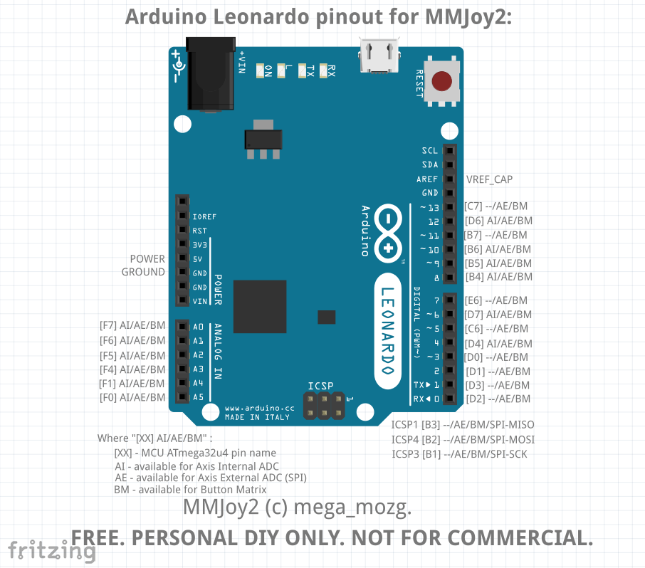Largest possible button matrix for mmjoy arduino ed forums
