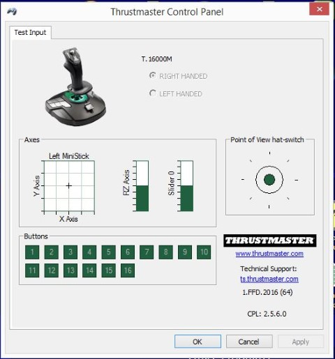 Kinda OT: Re-centering a joystick (T16000 M) - SimHQ Forums