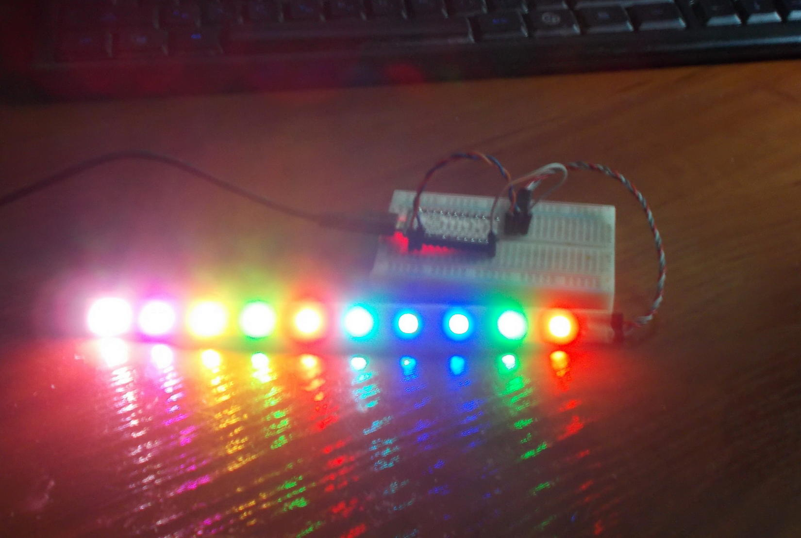 Mmjoy Mmjoy2 Build Your Own Usb Controller Simhq Forums Mouse Wiring Diagram Also 2016 Mylink Radio Socket On Rgb Led Strip Ws2811 Each Have Individual Digital Address To Set Any Color 3 Wire Connection Power Ground And Control