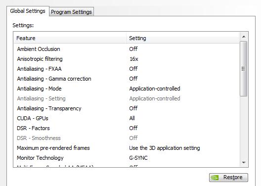 nVidia settings - SimHQ Forums